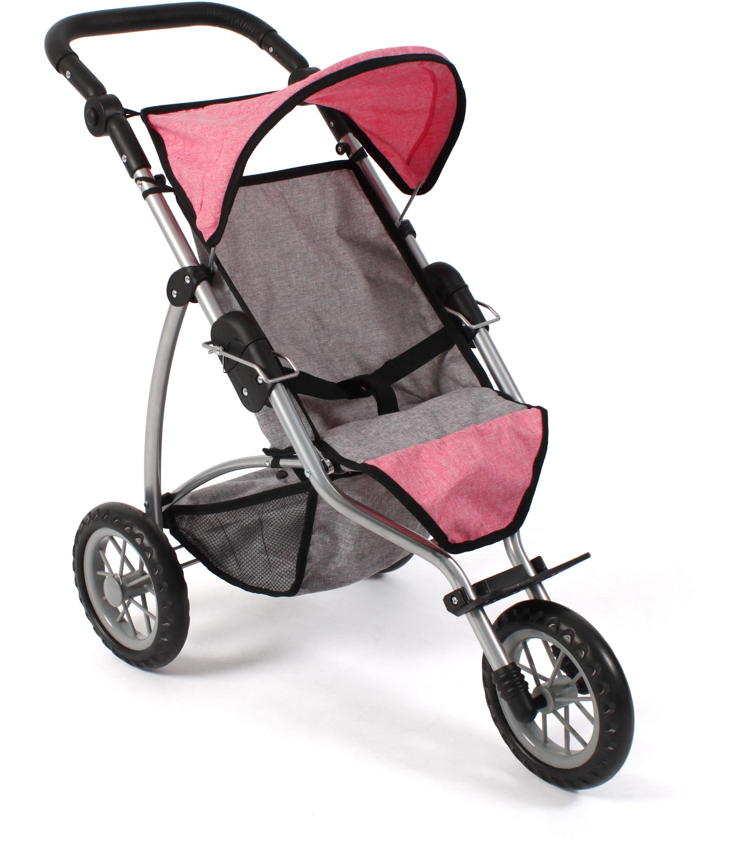 CHIC2000 Puppenbuggy Leon, melange pink grau Kinder Puppenzubehör Puppen Puppenwagen
