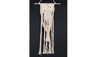 THEKO Wanddekoobjekt »Wallart Triangel«, Makramee-Wanddeko, Wandbehang, reine Naturfaser, handgefertigt, im Boho Style kaufen