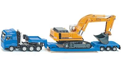 Siku Spielzeug-LKW »SIKU Super, MAN TG-A mit Tiefbettauflieger«, mit Liebherr Bagger kaufen