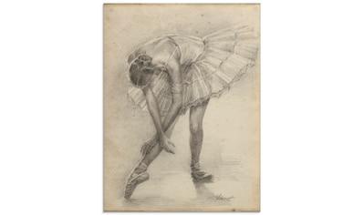 Artland Glasbild »Antike Ballerina Übung II« kaufen