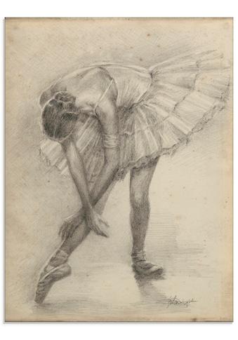 Artland Glasbild »Antike Ballerina Übung II«, Sport, (1 St.) kaufen