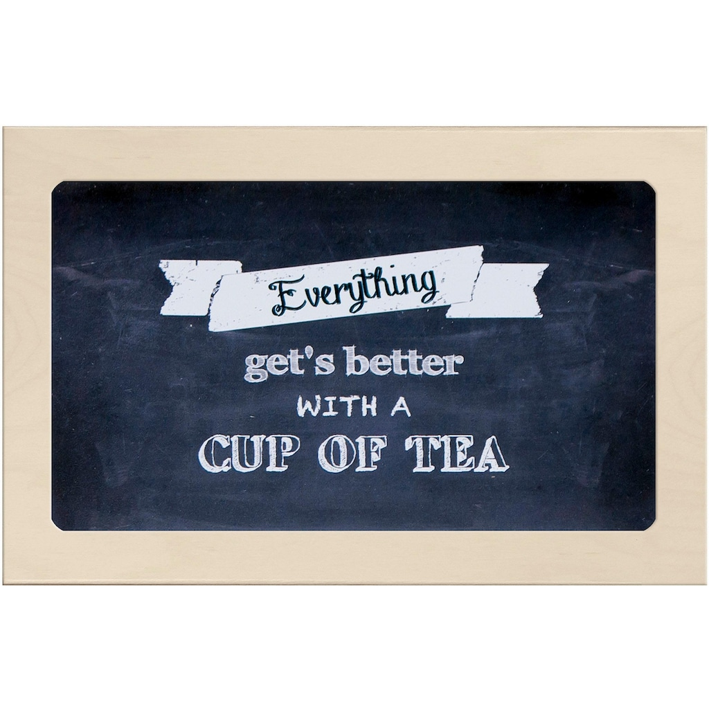 Contento Teebox »Everything gets better with a cup of tea«, (1 tlg.)