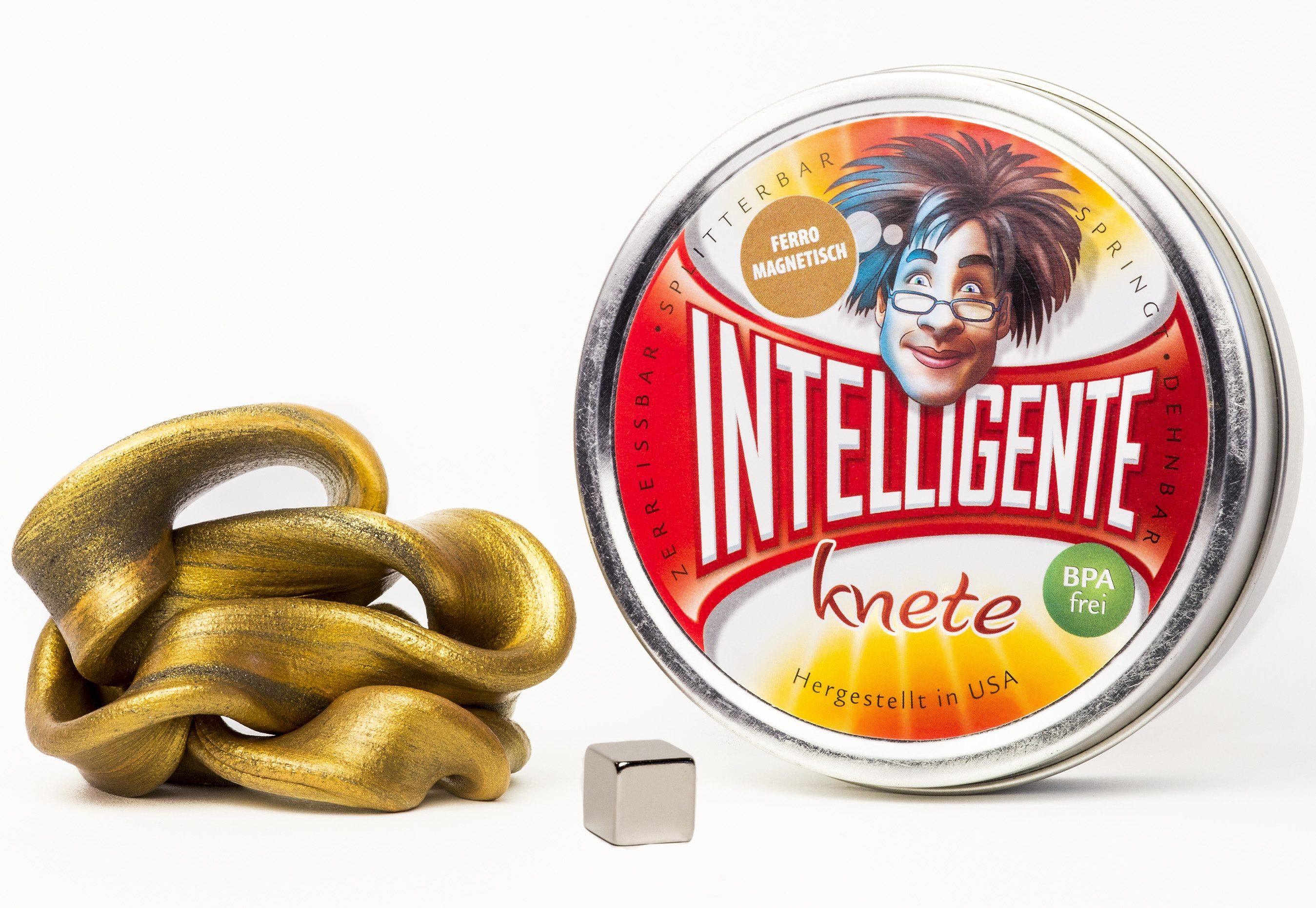 INTELLIGENTE knete Intelligente Knete Ferromagnetisch - Goldfarben, magnetisch goldfarben Kinder Kneten Modellieren Basteln, Malen, Kosmetik Schmuck