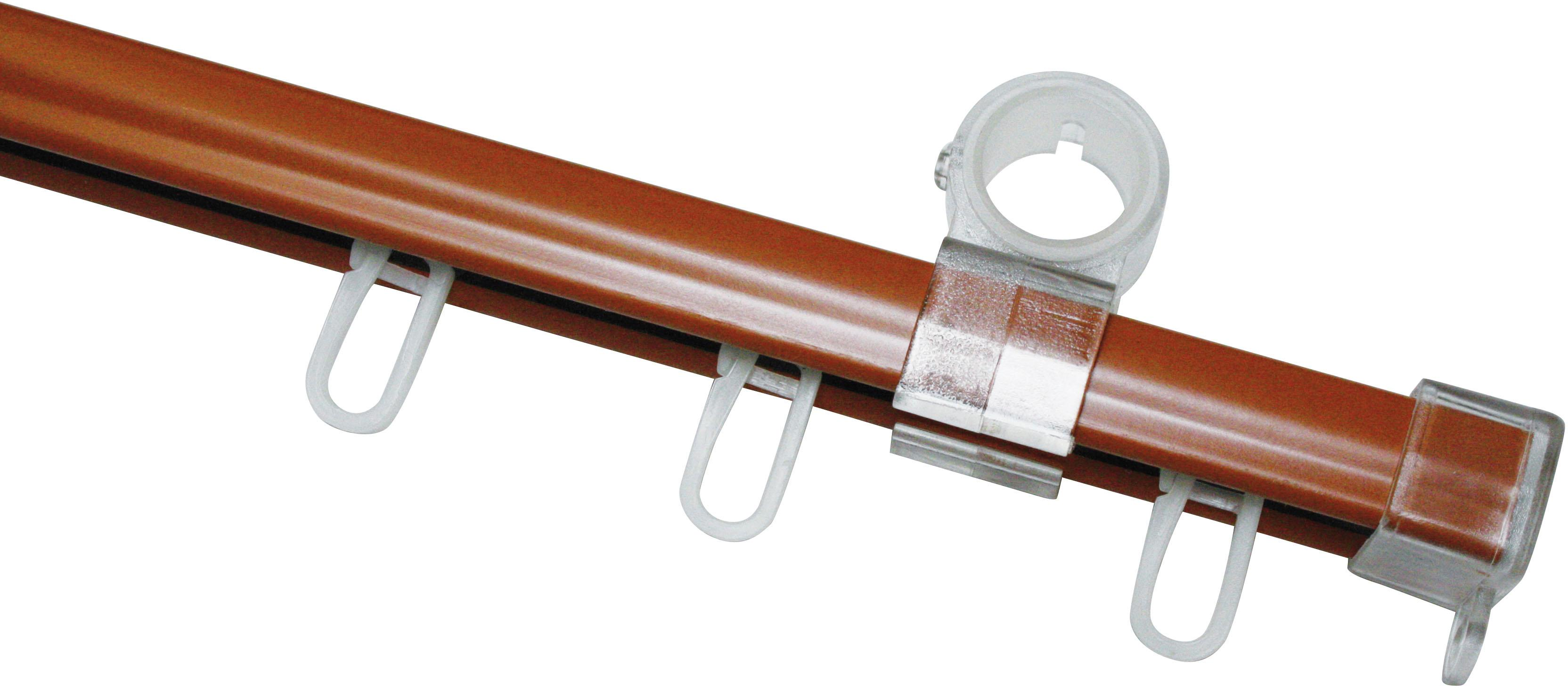 GARDINIA U-Schiene, 1 läufig-läufig, Fixmaß, komplett braun U-Schiene Gardinenschienen Gardinen Vorhänge