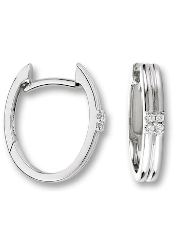 ONE ELEMENT Paar Creolen »Orhringe / Creolen aus 585 Weißgold mit 0,04 ct Diamant« kaufen