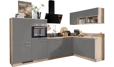 Express Küchen Winkelküche »Scafa«, ohne E-Geräte, vormontiert, mit Vollauszügen und... kaufen
