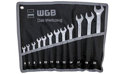 WGB BASIC PLUS Gabel- und Ringschlüssel »Ringmaulschlüssel-Satz«, Chrom-Vanadium... kaufen