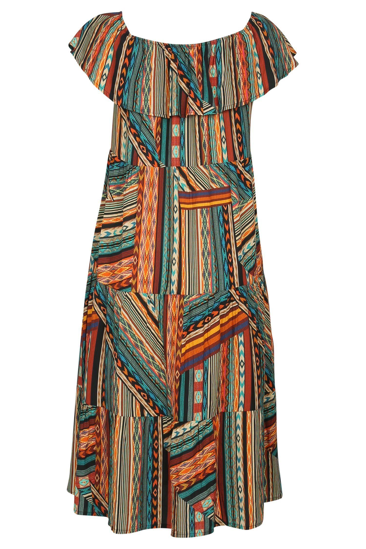 Paprika Maxikleid »Langes Kleid mit Wax-Print« online auf ...