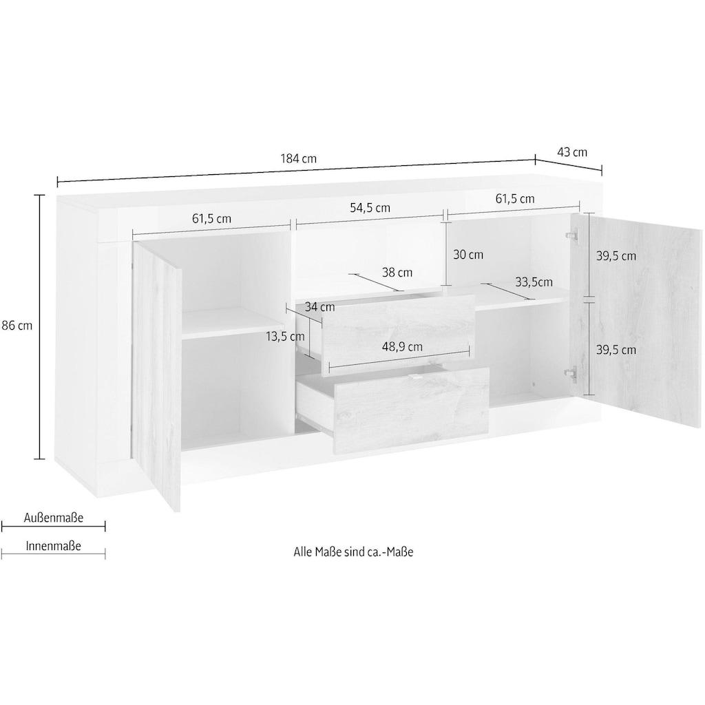 LC Sideboard »Urbino«, Breite 184 cm