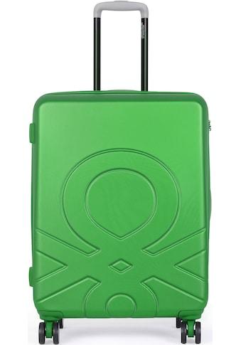 "United Colors of Benetton Hartschalen - Trolley ""Ultra Logo, 55 cm, green"", 4 Rollen kaufen"