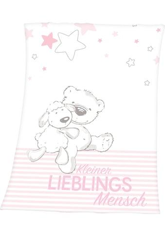 Baby Best Babydecke »Kleiner Lieblingsmensch«, mit tollem Motiv und Schriftzug kaufen
