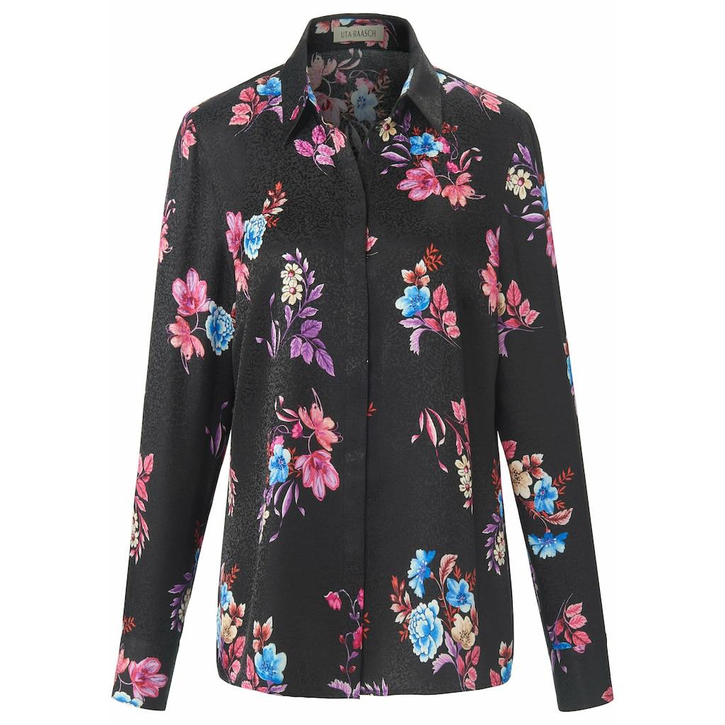 Uta Raasch Langarmbluse »Bluse«, mit Blüten-Muster