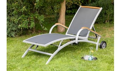MERXX Gartenliege »Siena«, Alu/Textil/Akazie, verstellbar kaufen