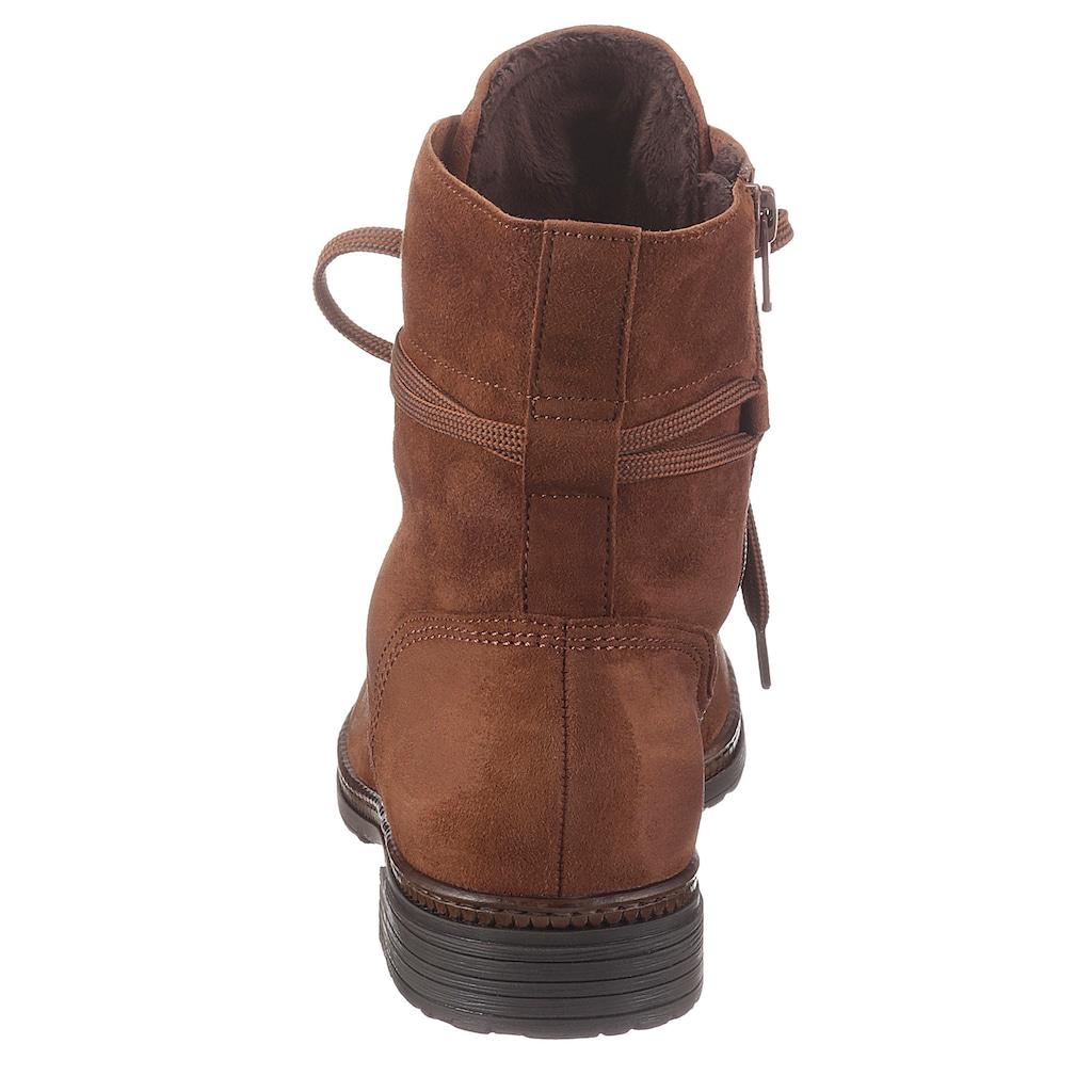 Gabor Schnürstiefelette, mit Schnürsenkeln zum Schaft umwickeln