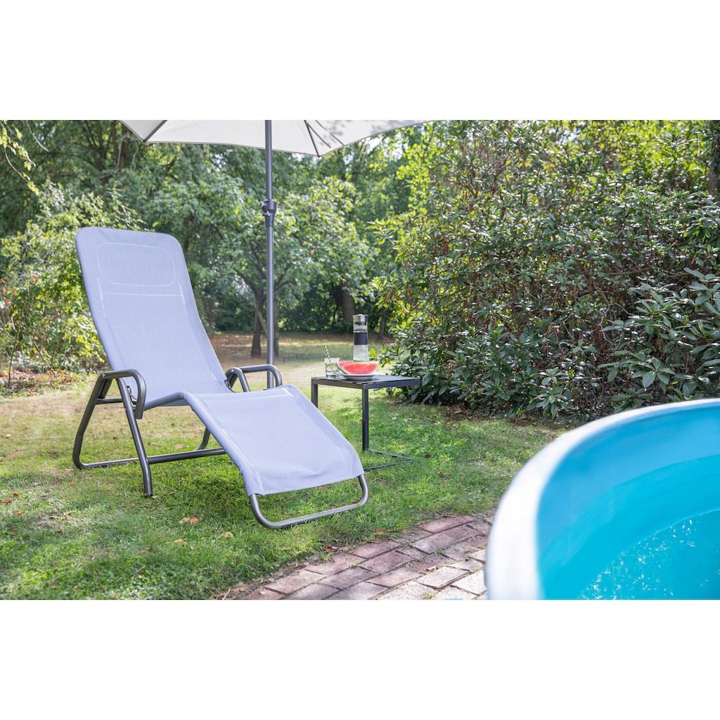 Siena Garden Gartenliege »Bito«, Stahl/Textil, verstellbar