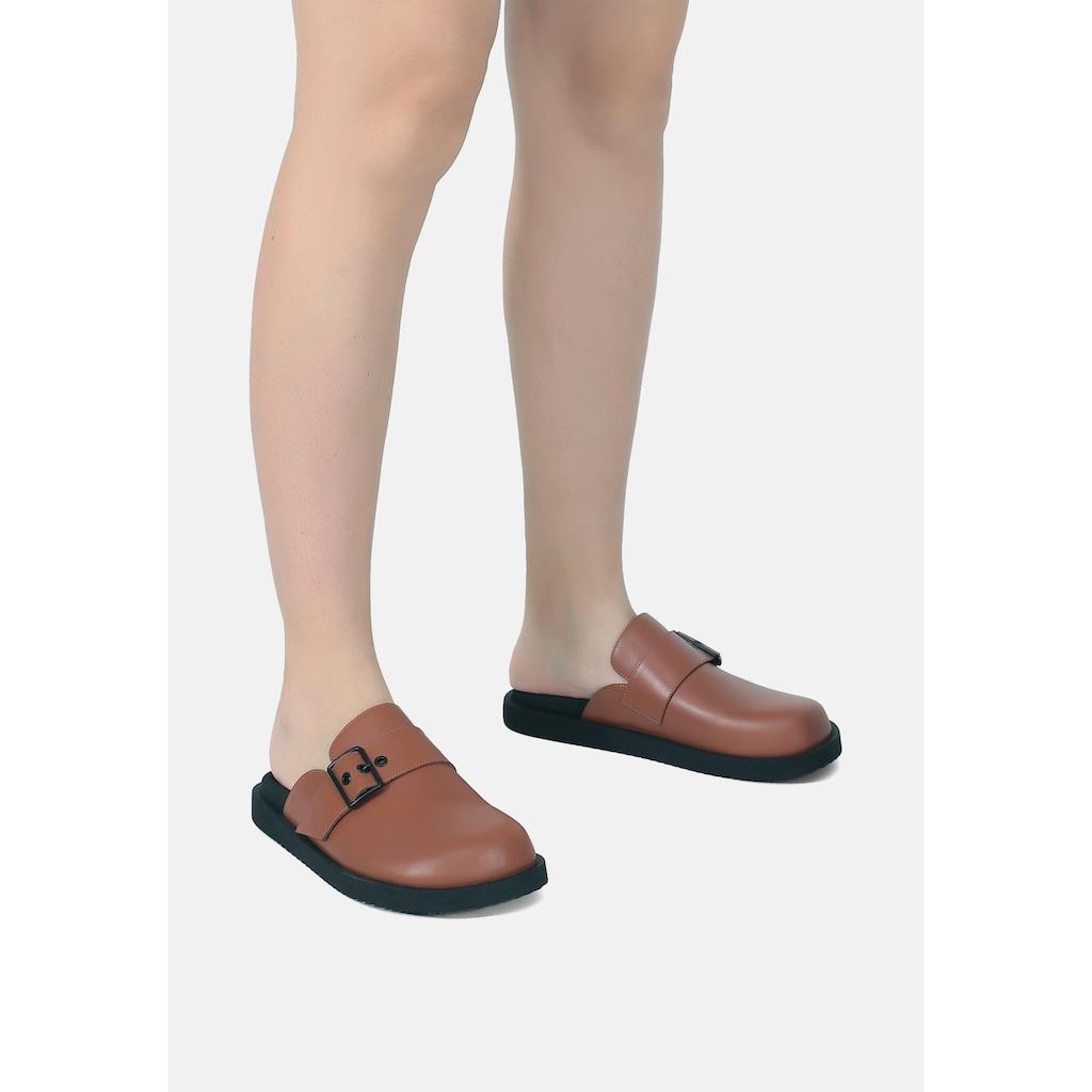 ekonika Pantolette, mit breitem Zier-Riemen