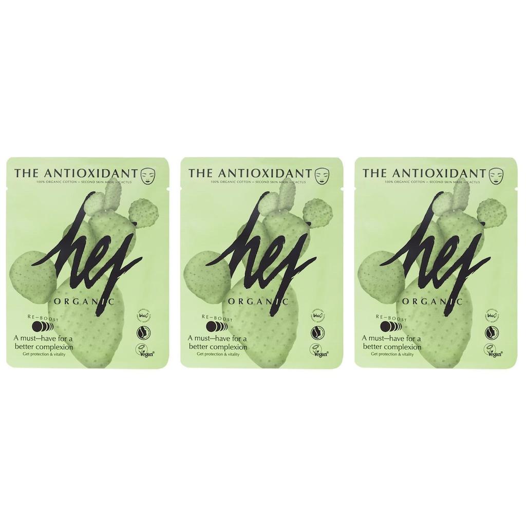 HEJ ORGANIC Gesichtsmasken-Set »THE ANTIOXIDANT SET Cactus«, (3 tlg.), mit Kaktusfeigenkernöl und Grapefruitextrakt