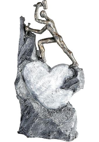 Casablanca by Gilde Dekofigur »Skulptur Heart, bronzefarben/grau«, Dekoobjekt, Höhe... kaufen