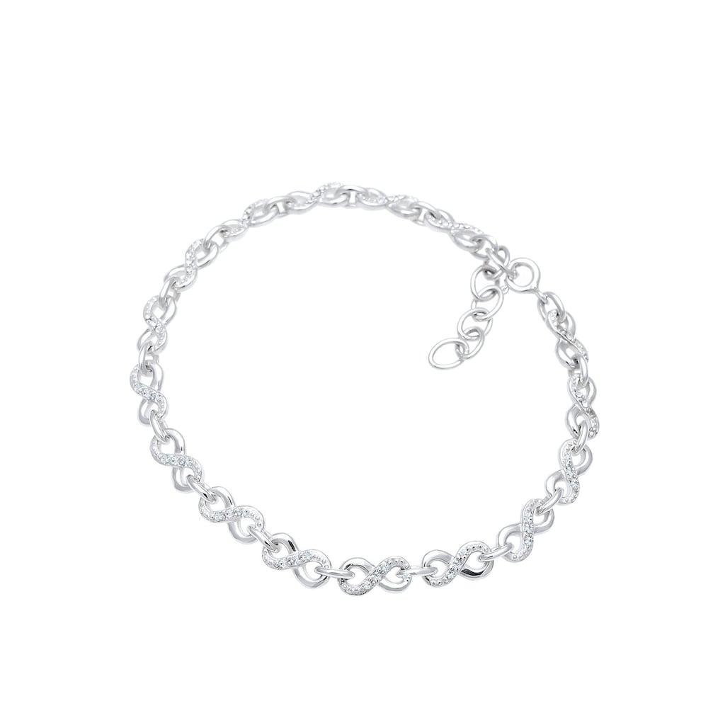 Elli Armband »Infinity Kristalle 925 Silber Infinitá«