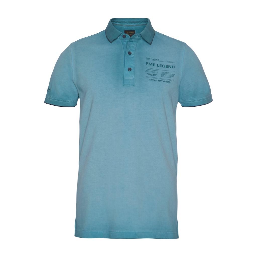 PME LEGEND Poloshirt, mit Logobrustprint