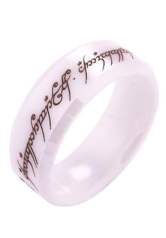 Der Herr der Ringe Fingerring »Der Eine Ring  -  Keramik weiß, 20003816« kaufen