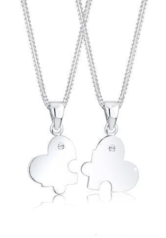 Elli Ketten-Set »Partnerkette Swarovski® Kristalle 925 Silber« kaufen