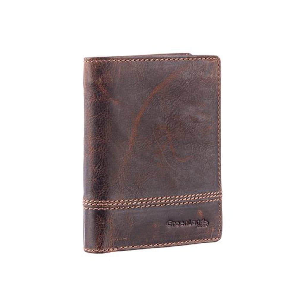 GreenLand Nature Geldbörse »Classic«, aus Leder mit schöner Ziernaht