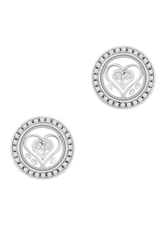 ASTRA Paar Ohrhänger »ASTRA DOUBLE HEART Stud Earrings Frame with Stones« kaufen