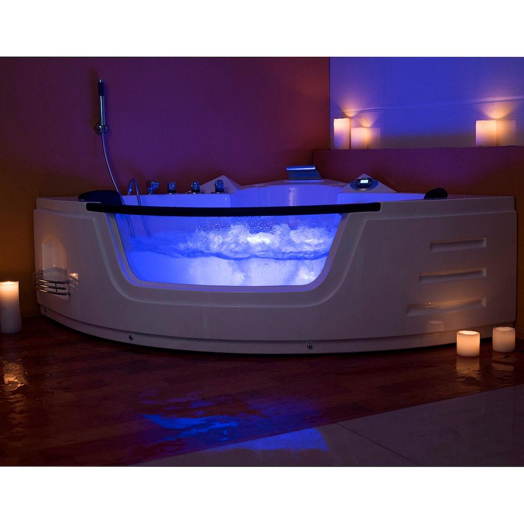 HOME DELUXE Whirlpool-Badewanne »White L Kompakt«, doppelwandig