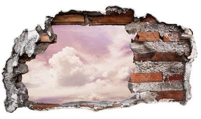 Wall-Art Wandtattoo »Lila Wolken Sticker 3D Himmel« kaufen
