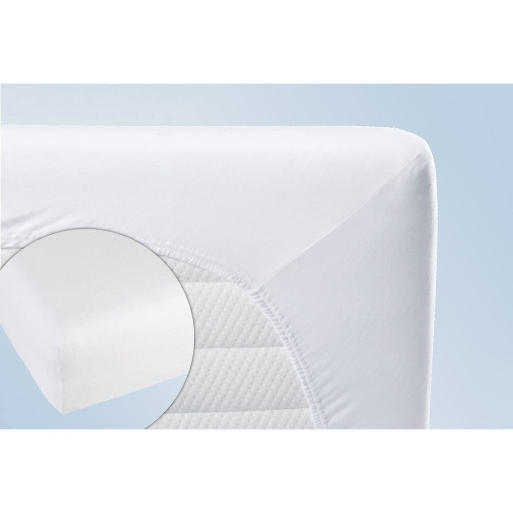 Biberna Matratzenauflage »Stretchmolton-Spannbetttuch für Wasserbetten + hohe Matratzen«