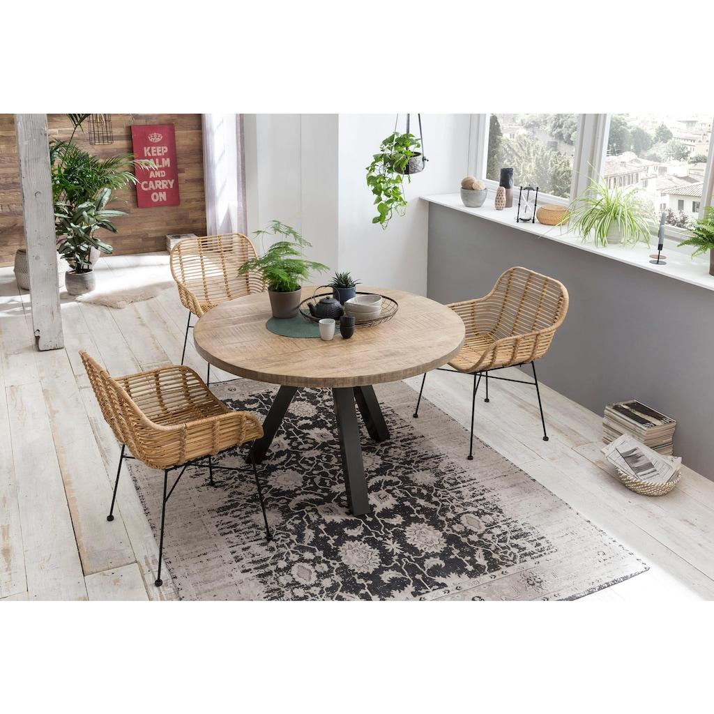 SIT Esstisch »Tops&Tables«, mit Massivholzplatte aus Mangoholz, runder Tisch