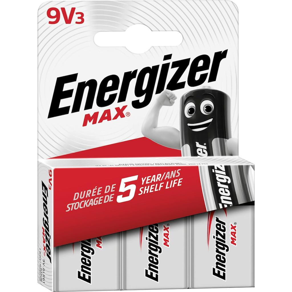 Energizer Batterie »Max E-Block 9V 3er Pack«, (Packung, 3 St.)