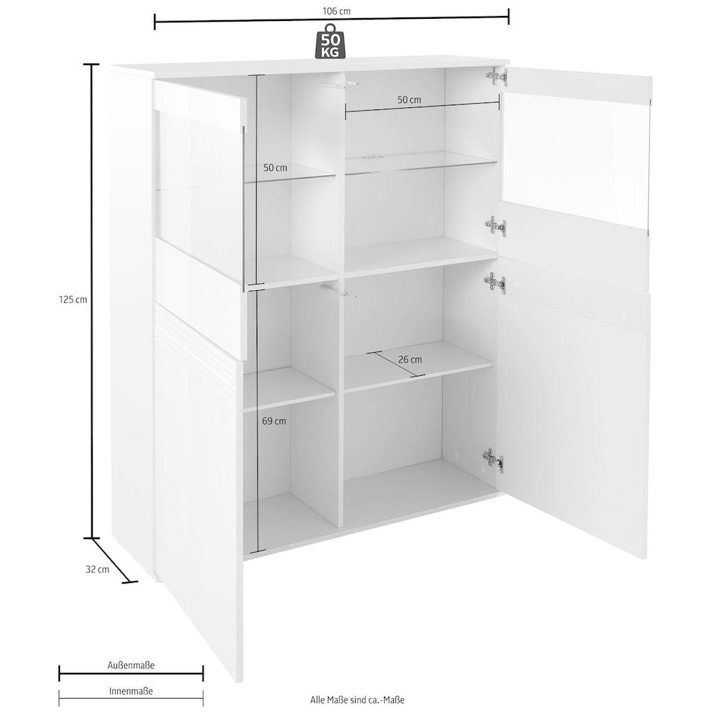 borchardt Möbel Vitrine »Florenz«, Höhe 125 cm