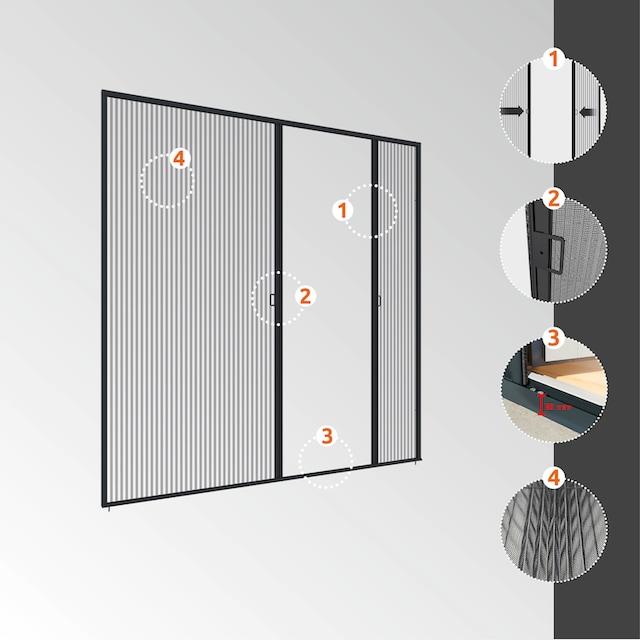 WINDHAGER Insektenschutz-Tür »EXPERT für Doppeltüren«, BxH: 240x240 cm
