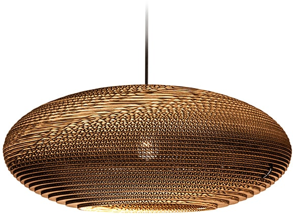 think paper Hängeleuchte Jazzy 440, E27, 1 St., Designer Leuchte, Papierleuchte Design, handgearbeitete Designer Leuchte, Deckenlampe Papier, Hängelampe Pappe