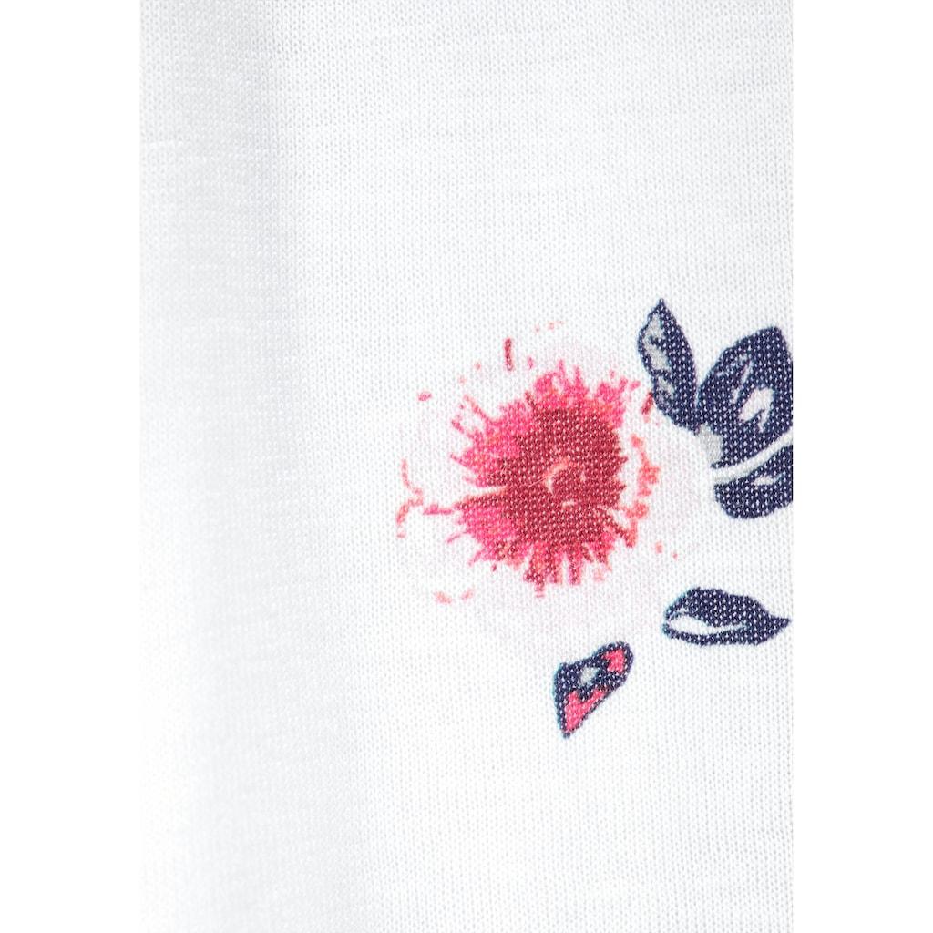 KIDSWORLD Carmenshirt, mit Trompetenärmel und Blumendruck