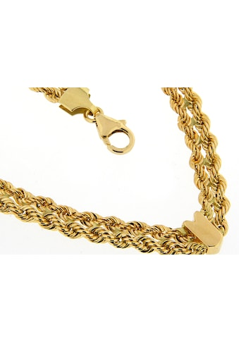 La Piora Goldkette »Kordel«, Gelbgold 585/- 2-reihig Glanz V-förmig kaufen