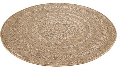 bougari Teppich »Almendro«, rund, 6 mm Höhe, Flachgewebe, Sisal-Optik, In- und Outdoor... kaufen