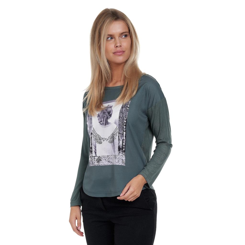 Decay Langarmshirt, mit eleganter Perlen-Applikation