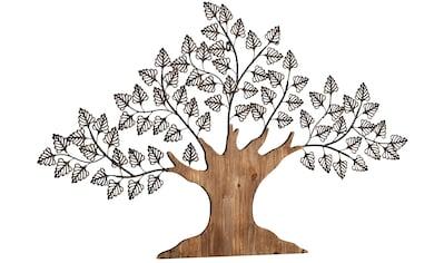 HOFMANN LIVING AND MORE Wanddekoobjekt »Baum«, Materialmix aus Metall und Holz kaufen