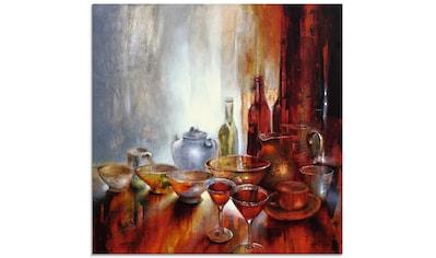 Artland Glasbild »Stillleben mit grauer Teekanne«, Geschirr & Besteck, (1 St.) kaufen