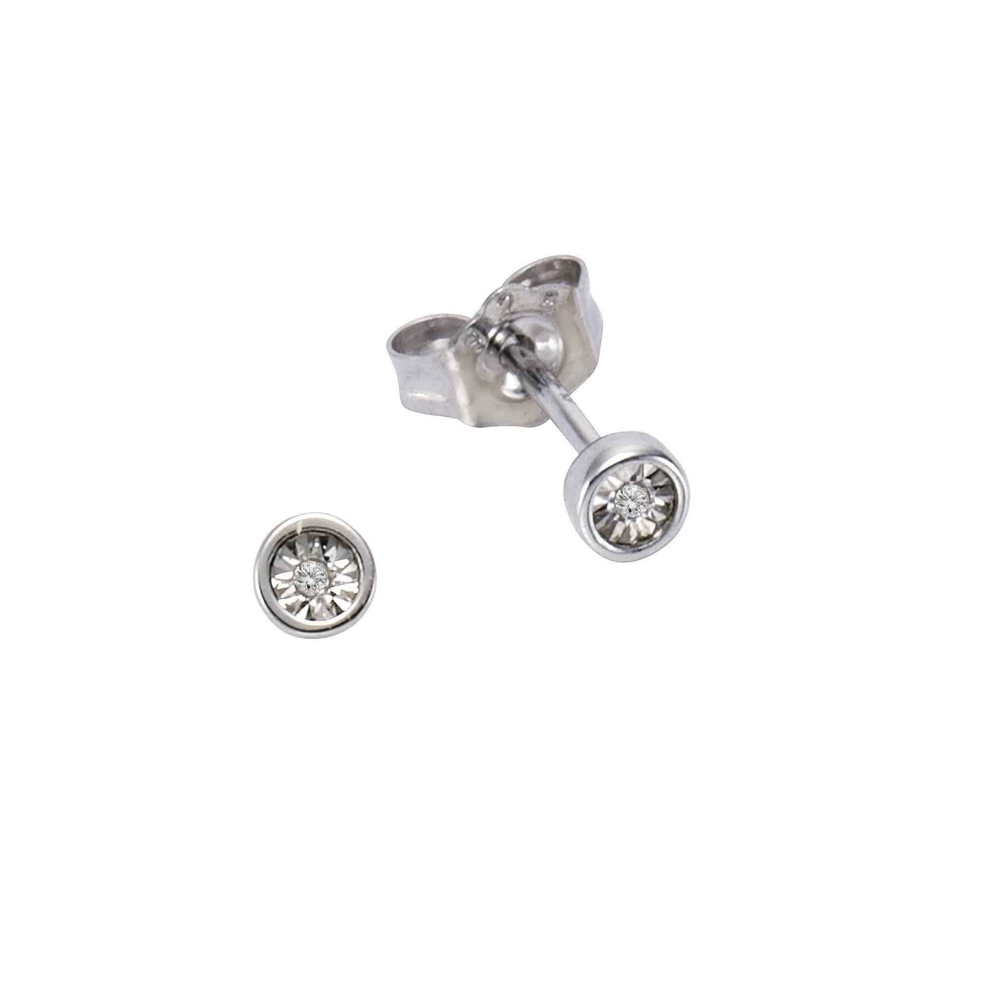 CELESTA Ohrstecker 925/- Silber 2x Diamant   Schmuck > Ohrschmuck & Ohrringe > Ohrstecker   Celesta