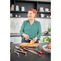 RÖSLE Allzweckmesser »Masterclass«, (1 tlg.), scharfes Küchenmesser mit Wellenschliff zum universellen Einsatz, Obst und Gemüse, Made in Solingen, Klingenspezialstahl, Nussbaumholz