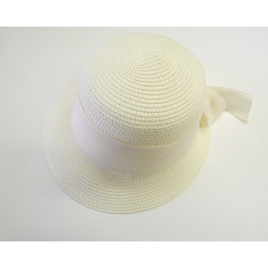 Chaplino Strohhut, mit farblich passendem Hutband