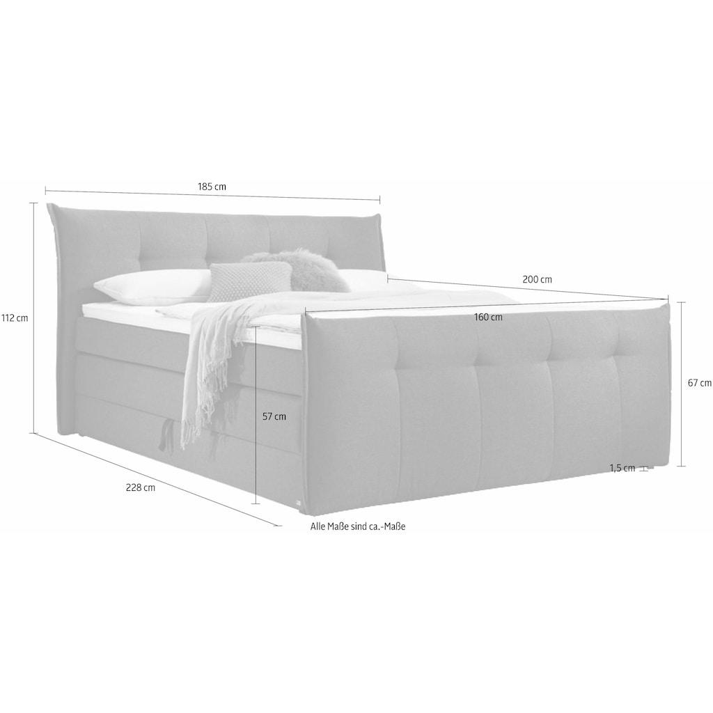 set one by Musterring Boxspringbett »Florida«, mit Bettkasten, in 5 Liegekomfortvarianten