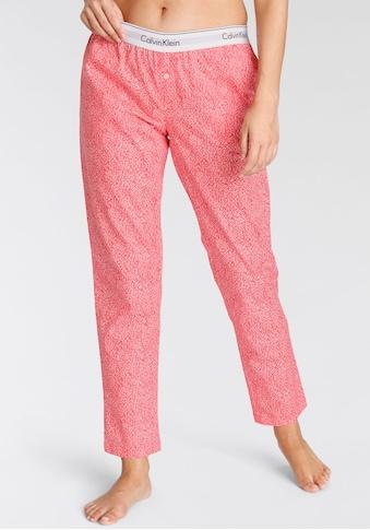 Calvin Klein Schlafhose, mit kontrastfarbenem Elastikbund mit Logoschriftzug kaufen