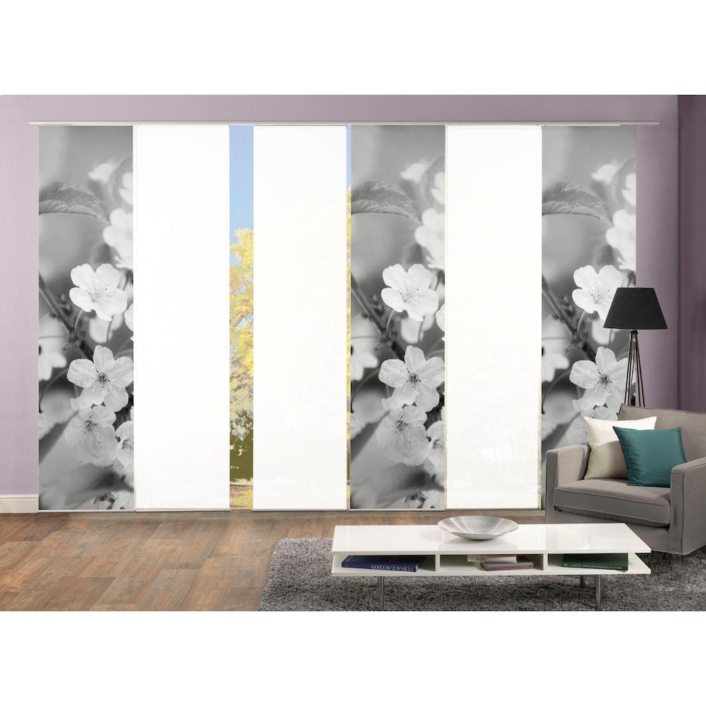 HOME WOHNIDEEN Schiebegardine »6ER SET NILA«, HxB: 245x60, Schiebevorhang 6er Set Digitaldruck