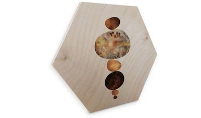 Wall-Art Holzbild »Gold Feng Shui Holzbild Steine«, (1 St.) kaufen