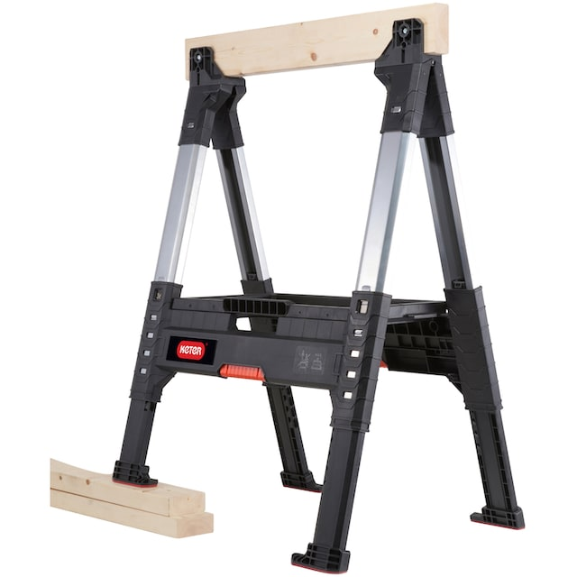 KETER Sägebock »ROC Lumber Jack«, höhenverstellbar, 1.360 kg Traglast